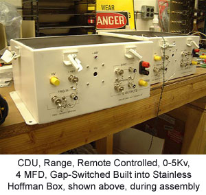 CDU, Range, Remote Controlled, 0-5Kv, 4 MFD, Gap-Switched Built into Stainless Hoffman Box
